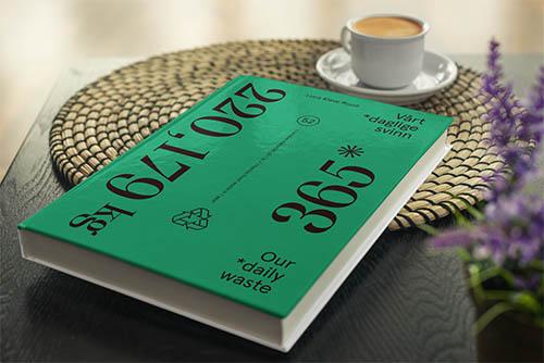 Bok, limited edition. Vårt daglige svinn - En familie, 365 dager med matsvinn. Bok.