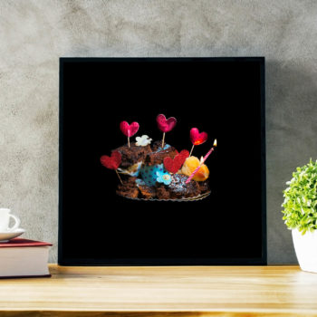 Bilde, kunst limited edition. Vårt daglige svinn - En familie, 365 dager med matsvinn. Bursdag, kunst, bilde, veggbilde.